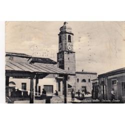 CABRAS MERCATO E CHIESA DELLO SPIRITO SANTO 1957 VIAGGIATA