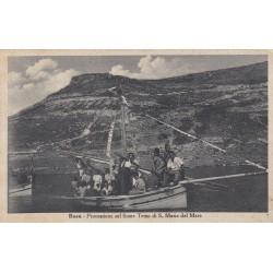BOSA PROCESSIONE SUL FIUME TEMO DI S.MARIA DEL MARE 1947 VIAGGIATA