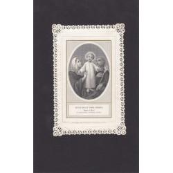 SACRA FAMIGLIA SIDEROGRAFIA CON BORDO TRAFORATO EDITORE LETAILLE PARIGI 1870