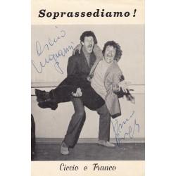 CARTOLINA AUTOGRAFATA FRANCO FRANCHI E CICCIO INGRASSIA