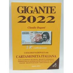 GIGANTE 2022 CATALOGO NAZIONALE DELLA CARTAMONETA ITALIANA CLAUDIO BUGANI