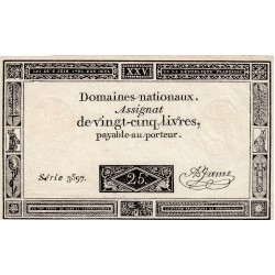 FRANCIA ASSEGNATO DA 25 LIVRES 1793