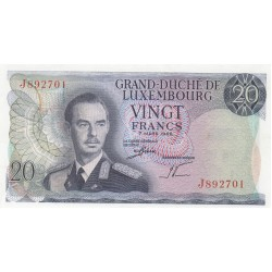 LUSSEMBURGO 20 FRANCS 1966 FDS