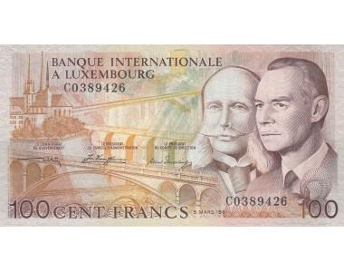 LUSSEMBURGO 100 FRANCS 1981 FDS