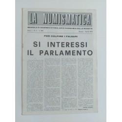 LA NUMISMATICA MENSILE ANNO I N'2 APRILE  BRESCIA 1970