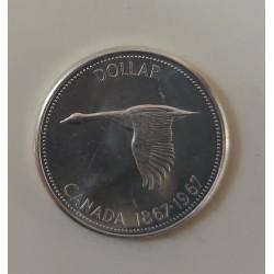 CANADA 1 DOLLARO 1967