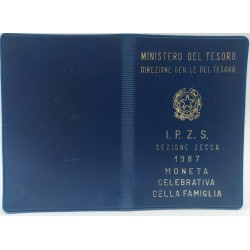 500 LIRE 1987 MONETA CELEBRATIVA DELLA FAMIGLIA