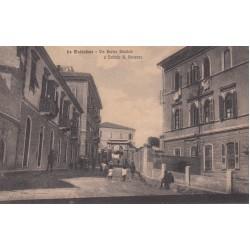LA MADDALENA VIA ENRICO DANDOLO E ISTITUTO S. VINCENZO , CARTOLINA VIAGGIATA 1916