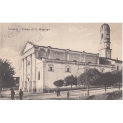 SASSARI - CHIESA DI S. GIUSEPPE , CARTOLINA VIAGGIATA 1921