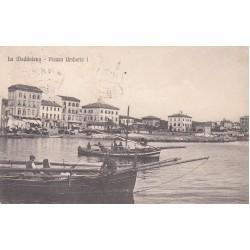 LA MADDALENA - PIAZZA UMBERTO I , CARTOLINA VIAGGIATA 1921