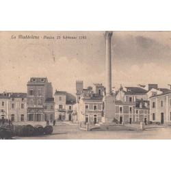 LA MADDALENA - PIAZZA 23 FEBBRAIO 1793, CARTOLINA VIAGGIATA 1920