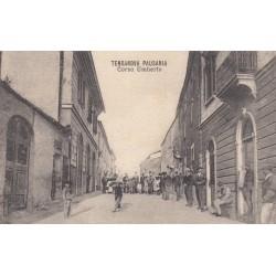 TERRANOVA PAUSANIA CORSO UMBERTO , CARTOLINA VIAGGIATA 1920