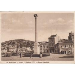 LA MADDALENA- PIAZZA 23 FEBBRAIO 1793 E COLONNA GARIBALDI VIAGGIATA 1939