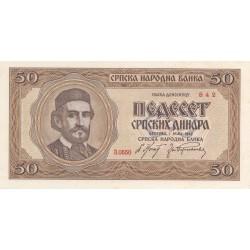 YUGOSLAVIA PIETRO II 1934-1945 5O DINARI 1942