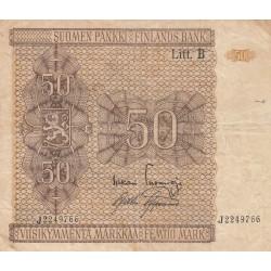 FINLANDIA REPUBBLICA 50 MARKAA 1945
