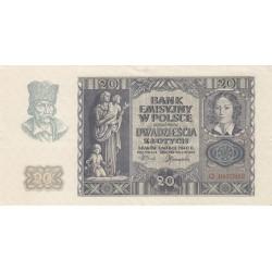 POLONIA 20 ZLOTY 1940