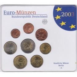 GERMANIA SERIE DIVISIONALE EURO 2003 IN CONFEZIONE ORIGINALE ZECCA STAATLICHE MUNZE BERLIN -A-