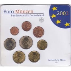 GERMANIA SERIE DIVISIONALE EURO 2003 IN CONFEZIONE ORIGINALE ZECCA HAMBURGISCHE MUNZE -J-