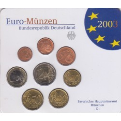GERMANIA SERIE DIVISIONALE EURO 2003 IN CONFEZIONE ORIGINALE ZECCA BAYERISHES HAUPTMUNZAMT MUNCHEN -D-