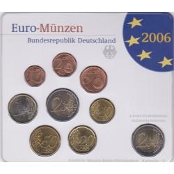 GERMANIA SERIE DIVISIONALE EURO 2006 IN CONFEZIONE ORIGINALE ZECCA STAATLICHE MUNZEN BADEN- WURTTEMBERG KARLSRUHE -G-