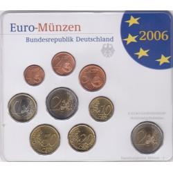GERMANIA SERIE DIVISIONALE EURO 2006 IN CONFEZIONE ORIGINALE ZECCA HAMBURGISHE MUNZE -J-