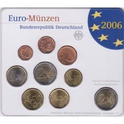 GERMANIA SERIE DIVISIONALE EURO 2006 IN CONFEZIONE ORIGINALE ZECCA STAATLICHE MUNZEN BADEN- WURTTEMBERG STUTTGART -F-