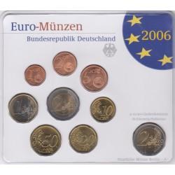GERMANIA SERIE DIVISIONALE EURO 2006 IN CONFEZIONE ORIGINALE ZECCA STAATLICHE MUNZE BERLIN -A-