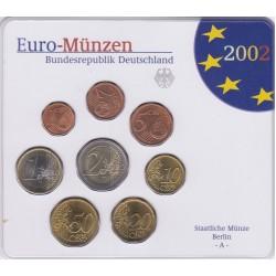 GERMANIA SERIE DIVISIONALE EURO 2002 IN CONFEZIONE ORIGINALE ZECCA STAATLICHE MUNZE BERLIN -A-