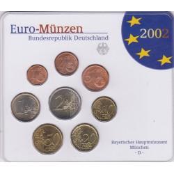 GERMANIA SERIE DIVISIONALE EURO 2002 IN CONFEZIONE ORIGINALE ZECCA BAYERISCHES HAUPTMUNZAMT MUNCHEN -D-