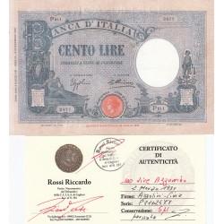 100 LIRE AZZURINO 02/03/1931 CONSERVAZIONE SPL