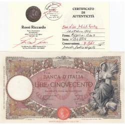 500 LIRE MIETITRICE 16/10/1935 CONSERVAZIONE Q.SPL