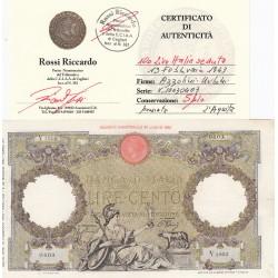 100 LIRE ITALIA SEDUTA 13/02/1943 CONSERVAZIONE SPL+