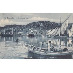 LA MADDALENA - LA QUARANTINA , CARTOLINA VIAGGIATA 1910