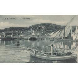 LA MADDALENA- LA QUARANTINA , CARTOLINA VIAGGIATA 1912