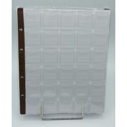 Pagina porta monete  Masterphil in PVC Cristal bordo  marrone 30  posti  , confezione 10 pezzi