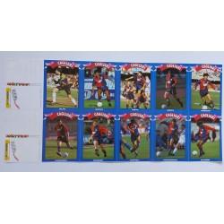 LE TIFOCARTOLINE CAGLIARI IN UEFA CAMPIONATOI DI SERIE A 1992-1993 SERIE COMPLETA DA 12 CARTOLINE CORRIERE DELLO SPORT