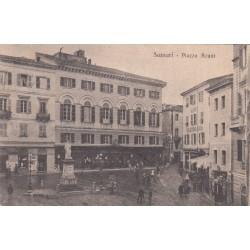 LA MADDALENA- PIAZZA AZUNI , CARTOLINA VIAGGIATA 1904