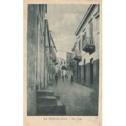 LA MADDALENA - VIA ILVA, CARTOLINA VIAGGIATA 1921