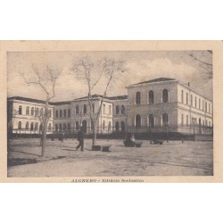ALGHERO - EDIFICIO SCOLASTICO , CARTOLINA VIAGGIATA 1920