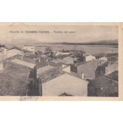 TERRANOVA PAUSANIA , VEDUTA DAL MARE, CARTOLINA VIAGGIATA 1924