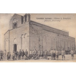 TERRANOVA PAUSANIA, CHIESA DI S. SIMPLICIO (MONUMENTO NAZIONALE ) CARTOLINA VIAGGIATA 1920