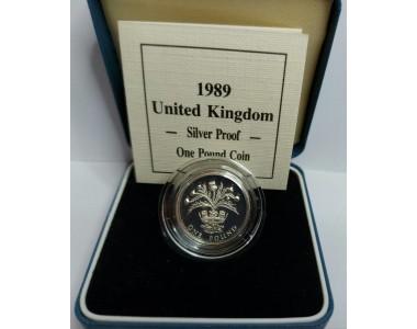 1 STERLINA 1989 UNITED KINGDOM SILVER PROOF