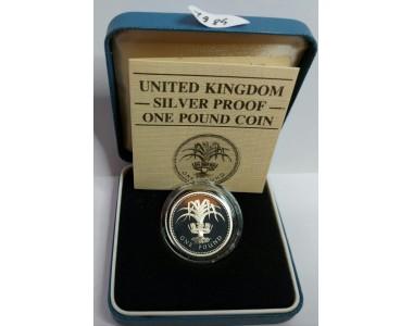 1 STERLINA 1985 UNITED KINGDOM SILVER PROOF