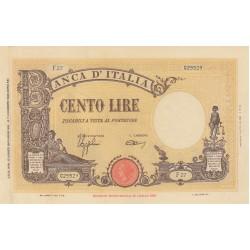 100 LIRE BARBETTI 15.3.1943 FASCIO