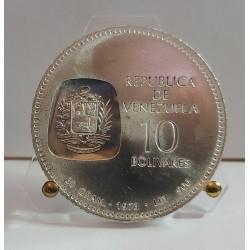 10 BOLIVARES 1973 REPUBLICA DE VENEZUELA