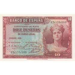 SPAGNA 10 PESETAS 1935