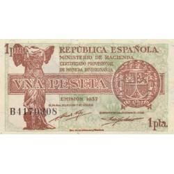 SPAGNA 1 PESETA 1937 aUNC