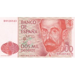 SPAGNA 2000 PESETAS 1980 XF