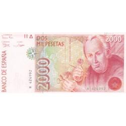 SPAGNA 2000 PESETAS 1992 UNC