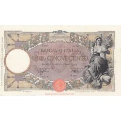500 LIRE MIETITRICE 18.1.1943 L'AQUILA